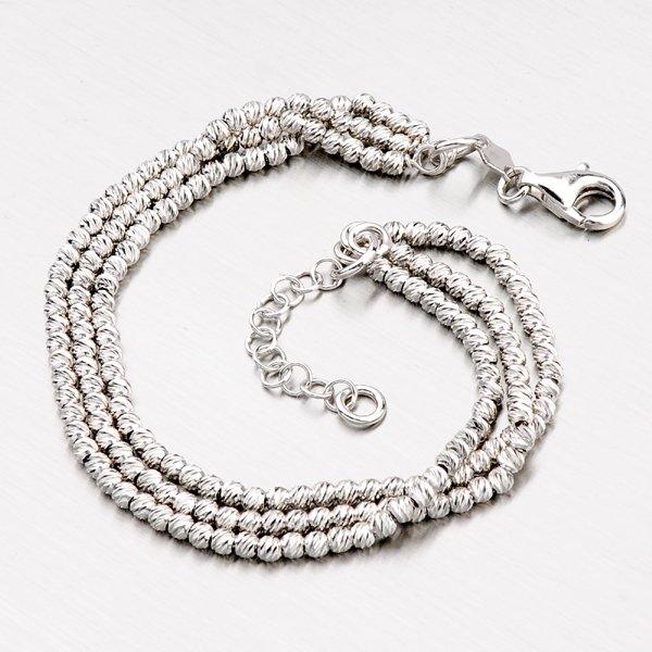 Stříbrný náramek s kuličkami B1400524-0048-SLX