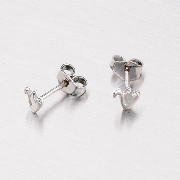 Stříbrné náušnice - pecky s labuťemi 6042-4