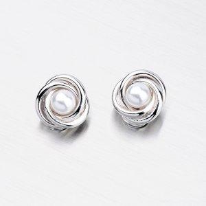 Stříbrné náušnice - Perly na klipsy MORC7328