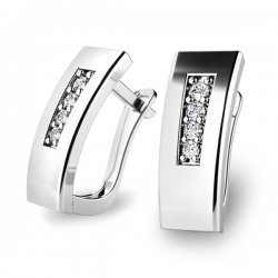 Dámské diamantové náušnice 10860-B