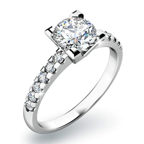 Dámský prsten s diamanty 10804D
