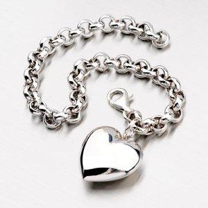 Stříbrný náramek se srdcem B1504858-1264-SLX