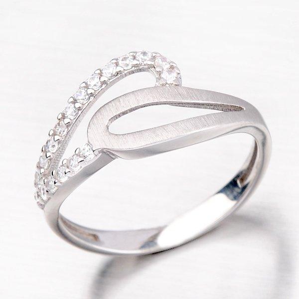 Stříbrný prsten se zirkony HK-502-OKS