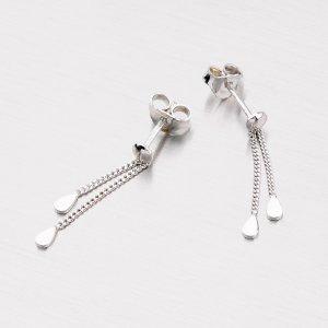 Stříbrné náušnice - visací kapičky 6097D