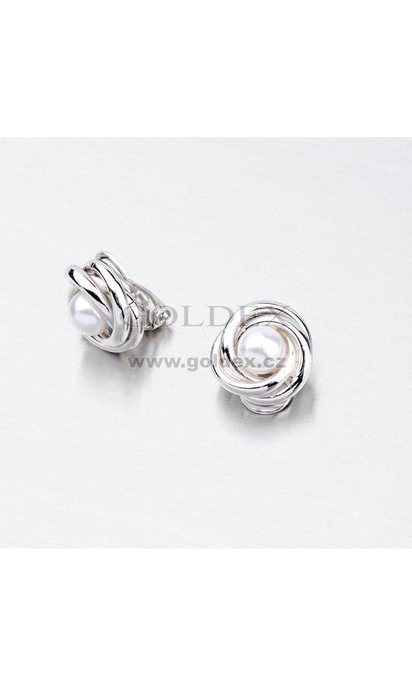 Stříbrné náušnice - Perly na klipsy MORC7328   Goldex.cz 98b126e002c