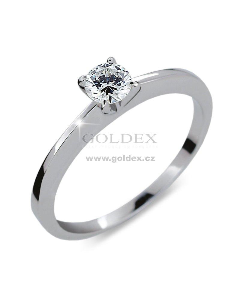 Zasnubni Prsten S Diamantem Zp1232 Goldex Cz