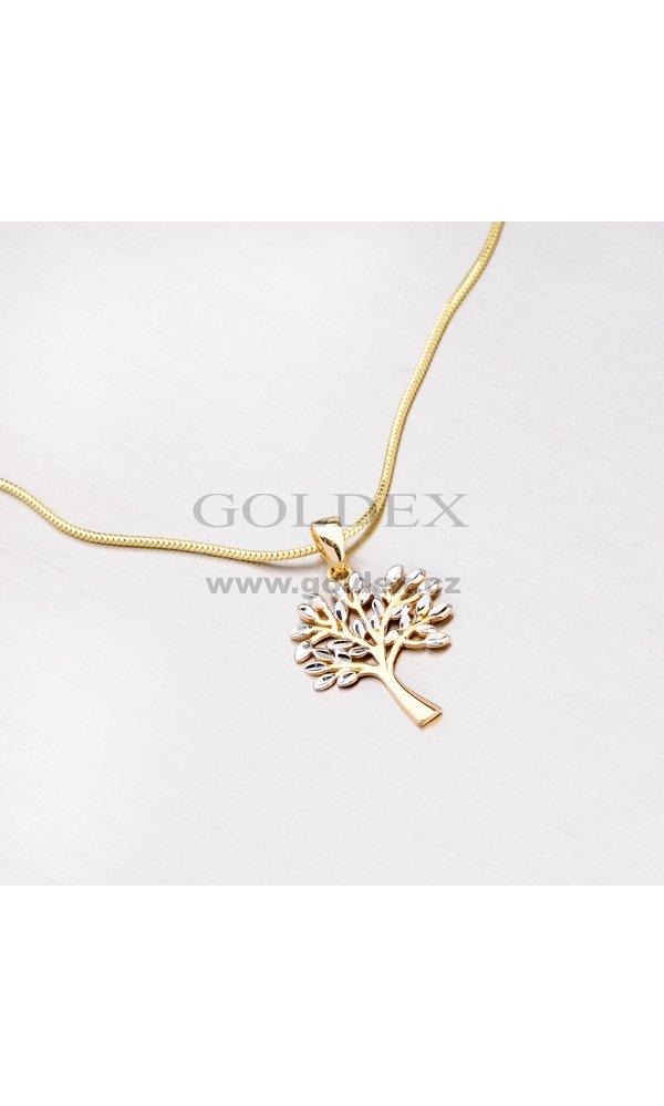 Zlatý přívěsek ve tvaru stromu 13-128   Goldex.cz 701704dc563