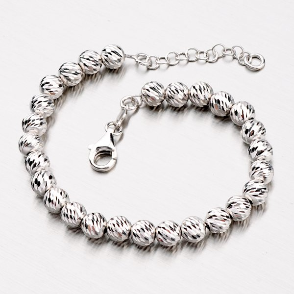 Stříbrný náramek s kuličkami B1400542-0048-SLX