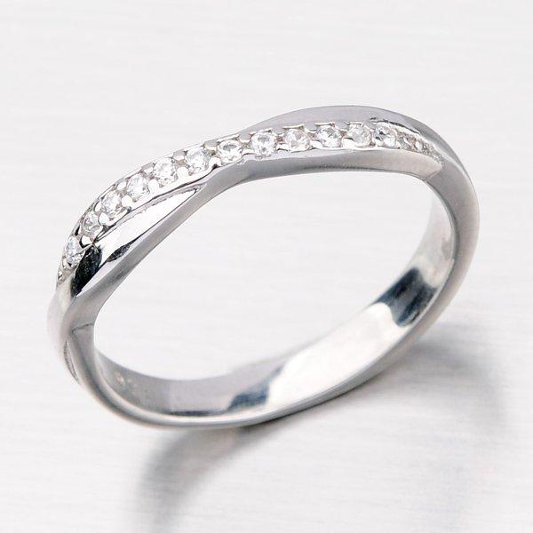 Jemný stříbrný prsten HK-627-OKS