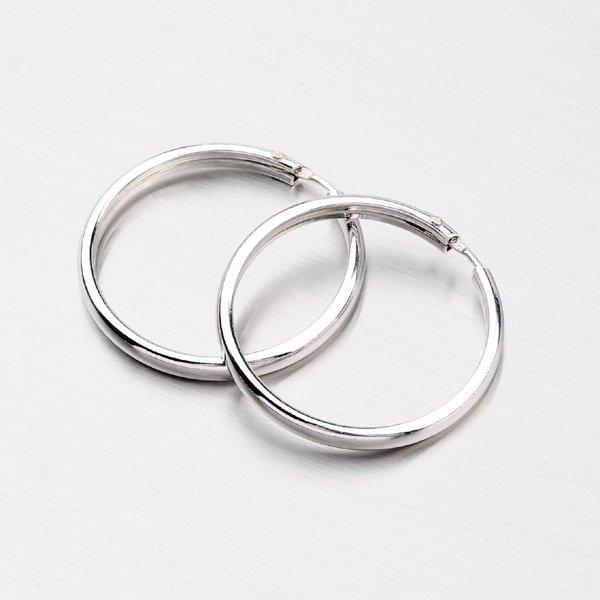 Stříbrné náušnice - velké kruhy 6177