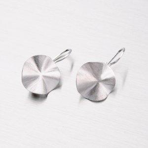Matné stříbrné náušnice - Visací MORM612