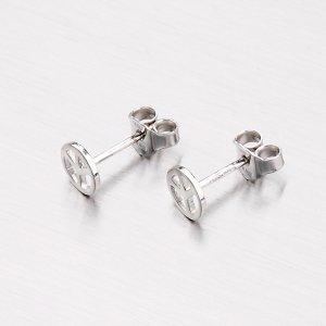 Stříbrné náušnice - peace pecky M605777