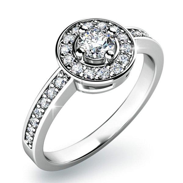 Dámský prsten s diamanty 10802D