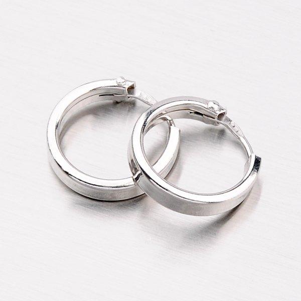 Stříbrné náušnice - kruhy M6175