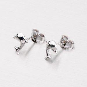Stříbrné náušnice - Delfíni M605782
