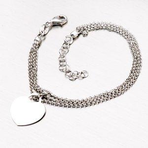 Stříbrný náramek s přívěskem 92003043-08-SLX