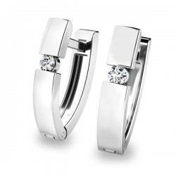 Dámské diamantové náušnice 10834-B