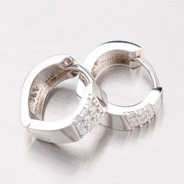 Stříbrné kruhy se zirkony OKP-156/P-OKS