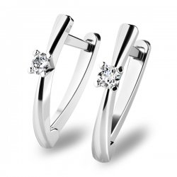 Visací náušnice s diamanty 10830-B