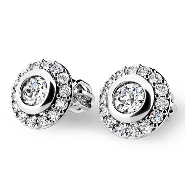 Diamantové náušnice pecky 10822-B