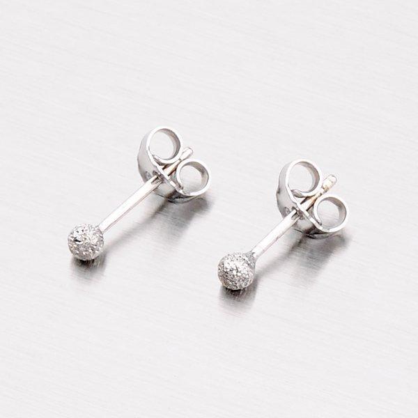 Stříbrné náušnice - pecky s kuličkami M6041PUN
