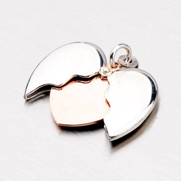 Stříbrné zlacené srdce P1602988-0940-SLX