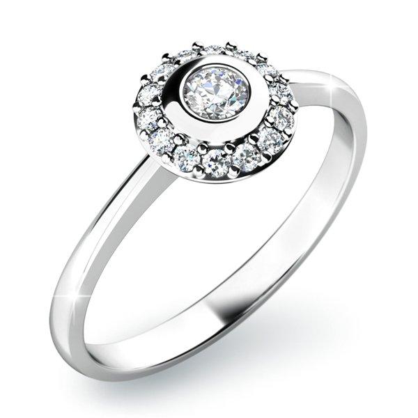 Dámský prsten s diamanty 10799D