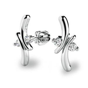 Diamantové náušnice pecky 10851-B