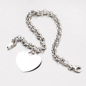 Stříbrný náramek se srdcem B1403374-1132-SLX
