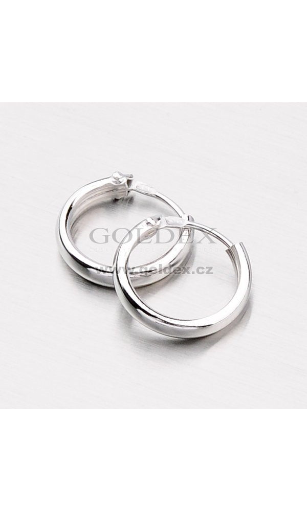 1055c5d12 Stříbrné náušnice - kruhy M7402 : Goldex.cz