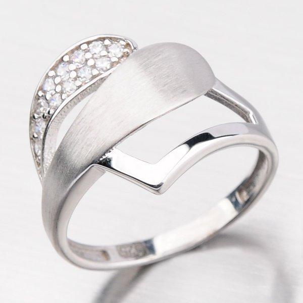 Zářivý prsten se zirkony HK-512-OKS