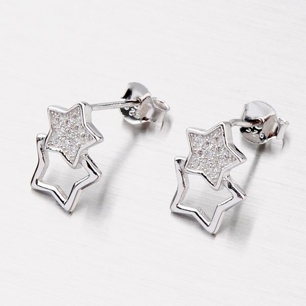 Náušnice ve tvaru hvězdy EXX14160204