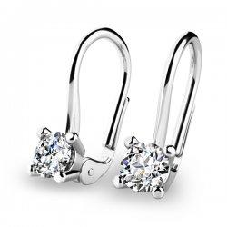 Visací diamantové náušnice 10827-B