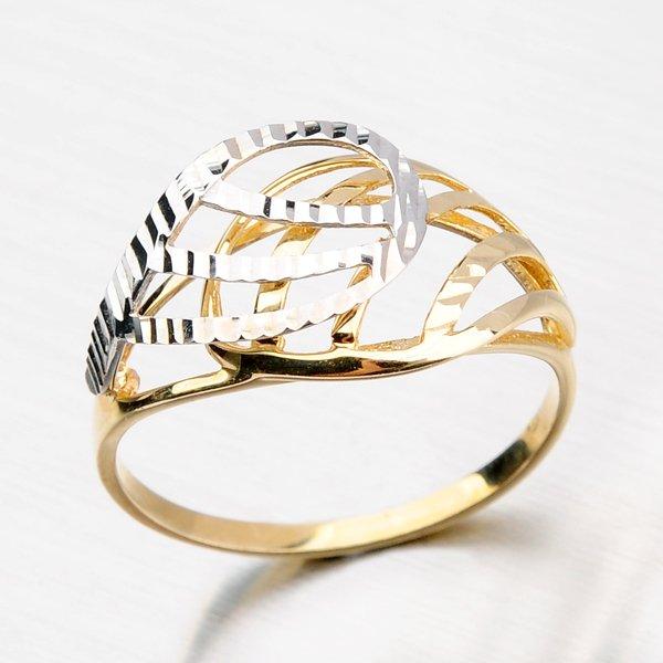 Zlatý prsten s gravírováním 11-115