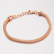 Stříbrný růžově pozlacený náramek B1300511-1264-SLX