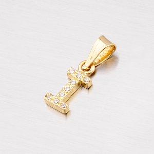 Zlatý přívěsek - písmeno I 13-152-I