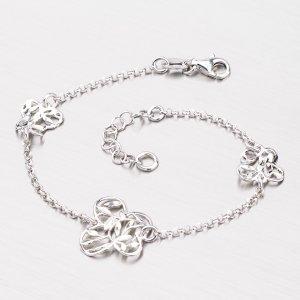 Stříbrný náramek s motýlky B1502656-0331-SLX