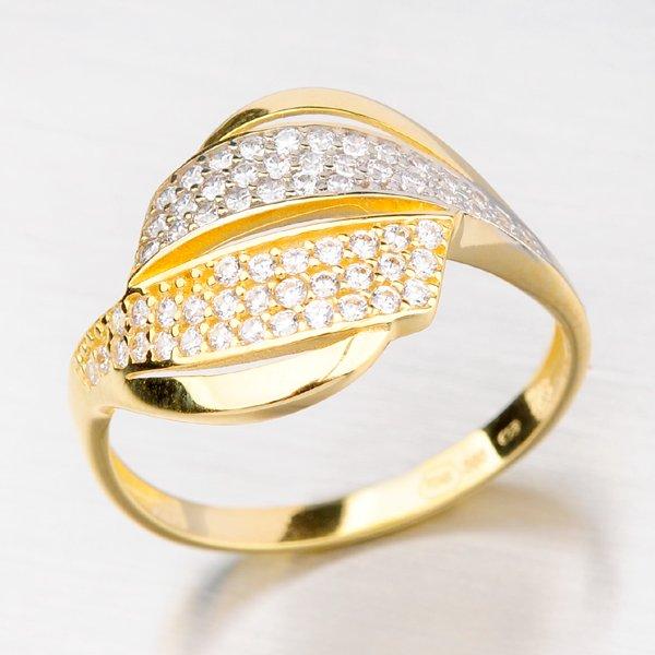 Prsten ze zlata se zirkony 41-NY78