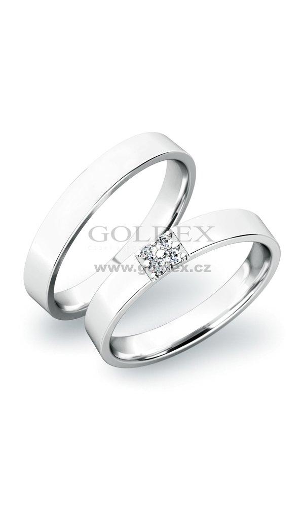 Snubni Prsteny Stribrne Sp 61027 Ag Goldex Cz