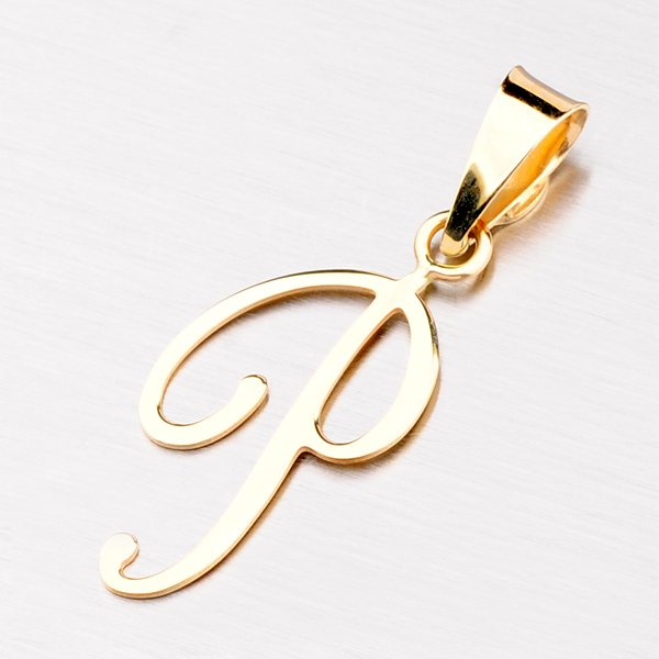 Přívěsek - zlaté písmenko P 43-2937-P