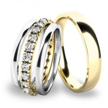 Snubní prsteny set ze zlata SP-61045-SET02
