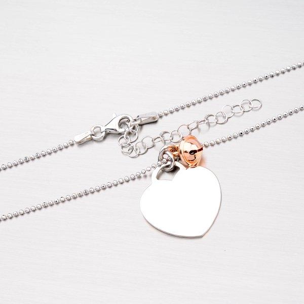 Stříbrný náhrdelník se srdcem a rolničkou N1502029-1264-SLX