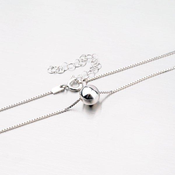 Stříbrný náhrdelník s lesklou kuličkou M3028