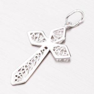 Stříbrný přívěsek ve tvaru kříže P1802959-1132-SLX