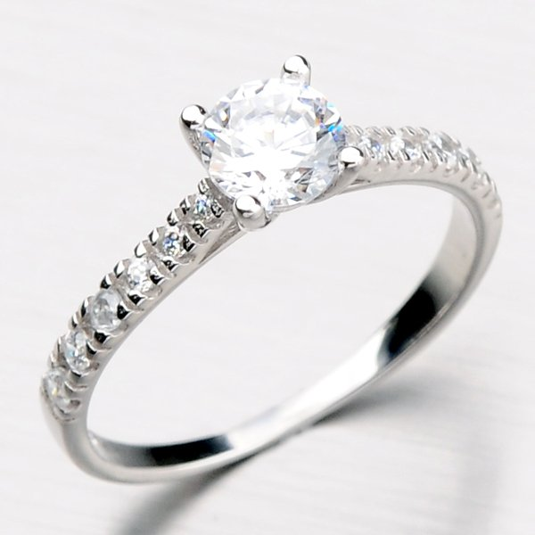 Zlatý prsten zdobený zirkony DZ10759-B