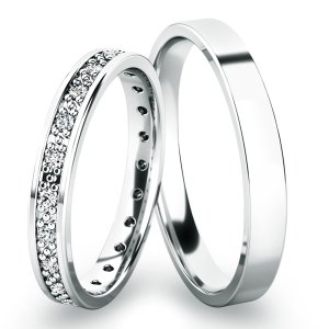 Snubní prsteny z bílého zlata SP-61048B
