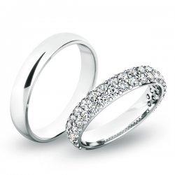 Snubní prsteny bílé zlato SP-61060B