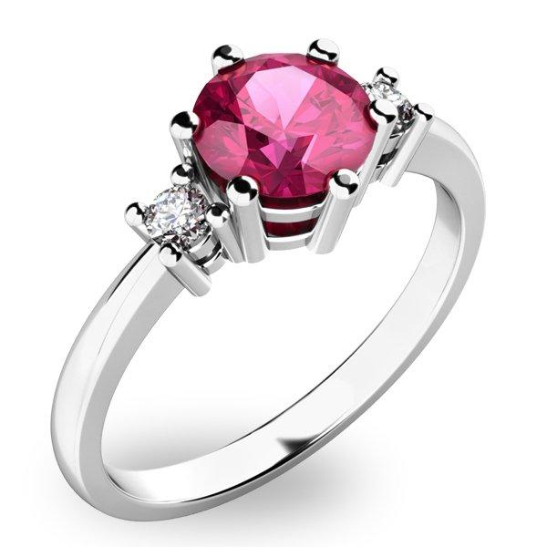 Krásný prsten s turmalínem a diamanty 10856B-TRML