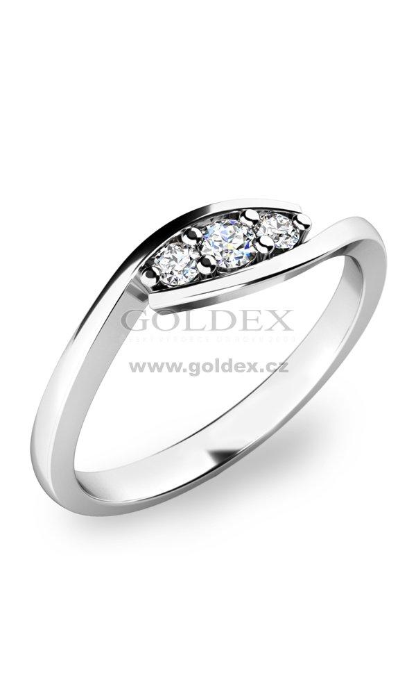 Zasnubni Prsten S Diamanty Zp 10847d Goldex Cz