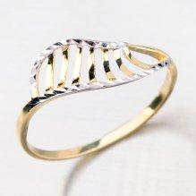 Prsten ze zlata zdobený gravírováním 41-NP158